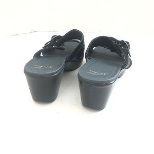 Dansko Shoes - NWOB Dansko Two Strap Black Slip On Sandals